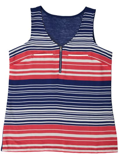 Stripe Zip Top Womens