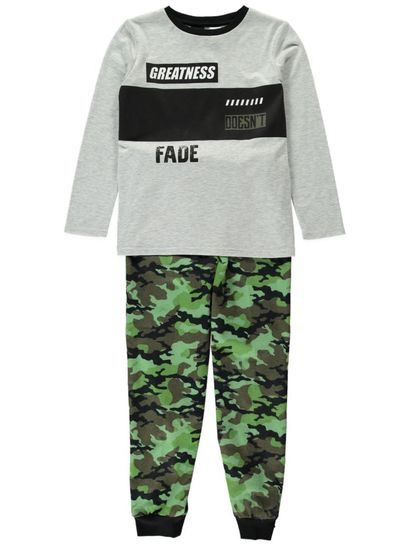 Boys Knit Flannelette Pyjama Set