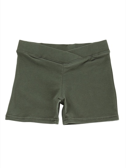 BOTTLE GREEN GIRLS BIKE SHORTS