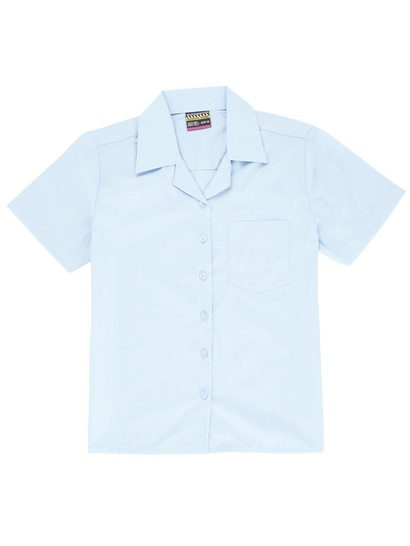 SKY BLUE GIRLS SHORT SLEEVE BLOUSE