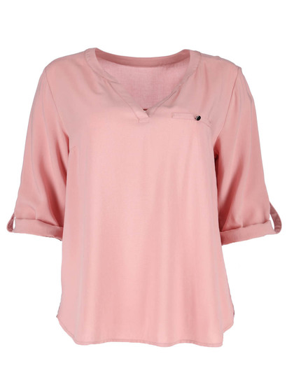 Plus Roll Sleeve Shirt Womens