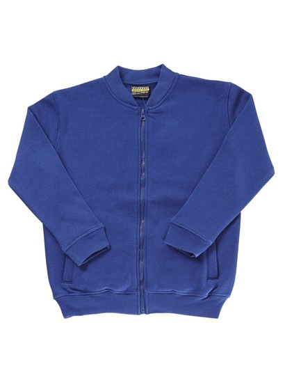 ROYAL BLUE KIDS FULL ZIP FLEECE JACKET