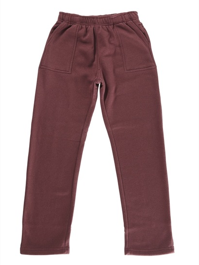 MAROON KIDS FLEECE TRACKPANTS
