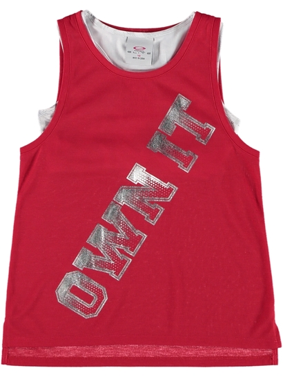 Girls Active Slogan Tank