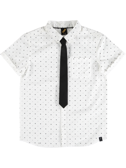 Boys Short Sleeve Shirt And Tie