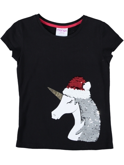 Girls Unicorn Flip Sequin T-Shirt