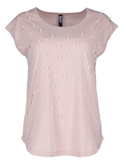 Extended Sleeve Embellished Tee Womens