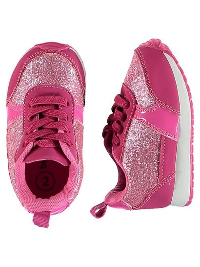 Baby Girl Hard Sole Glitter Runner