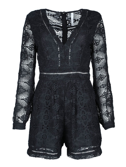 Miss Mango Black Lace Playsuit