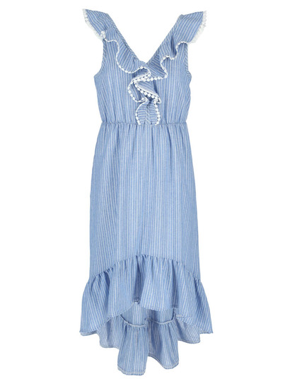 Girls Stripe Maxi Dress