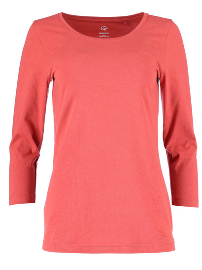 Womens Plus Cotton Blend 3/4 Sleeve Top