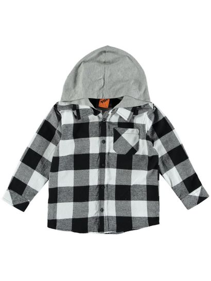 Boys Hooded Flannelette Shirt