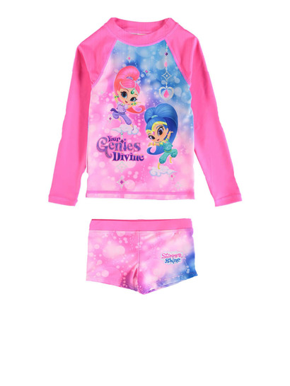 Toddler Girls Shimmer And Shine Swimset
