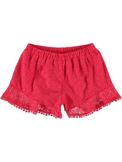 Girls Broderie Shorts