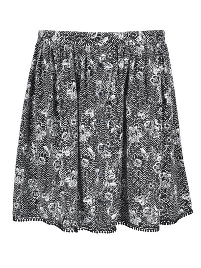 Womens Crochet Trim Skirt
