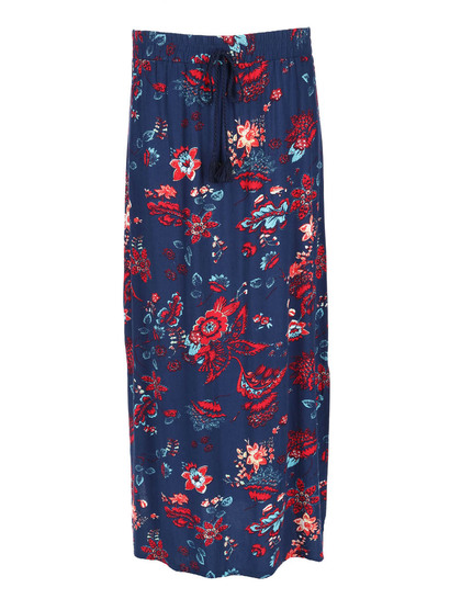 Womens Printed Maxi Skirt