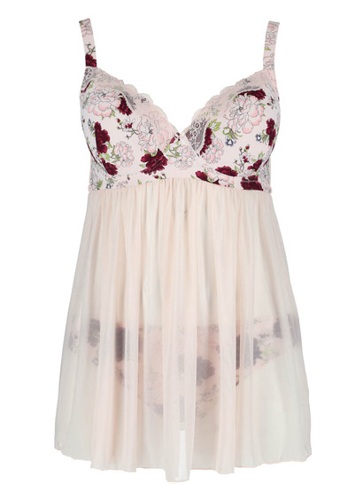 Full Figure Jane Floral Chemise