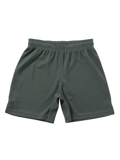 BOTTLE GREEN BOYS SPORTS MESH SHORTS