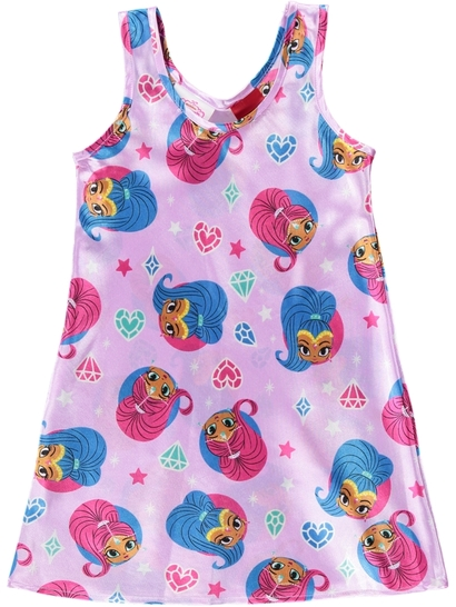 Girls Shimmer And Shine Satin Nightie