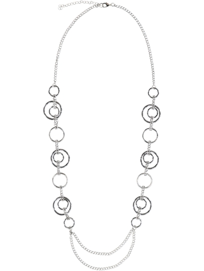 Womens Long Profile Necklace