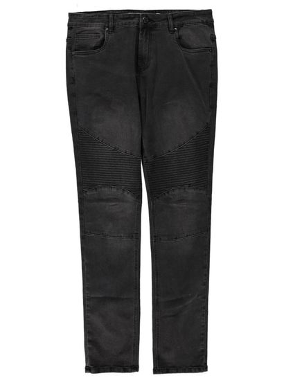 Mens Fashion Denim Biker Jean