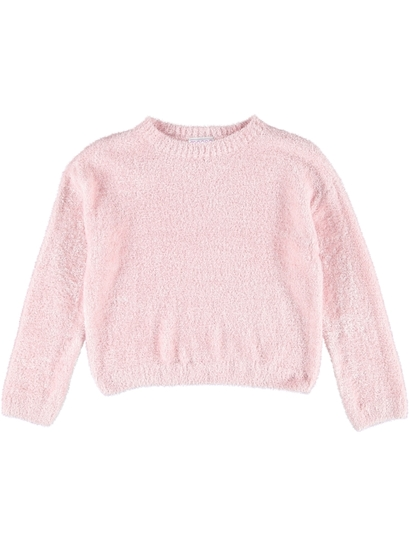Girls Feather Yarn Pullover