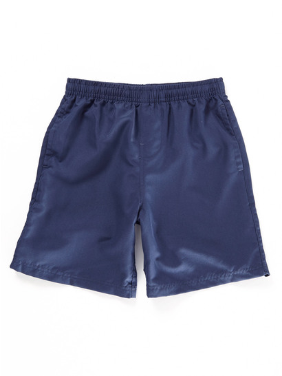 NAVY BLUE BOYS MICROFIBRE SHORTS