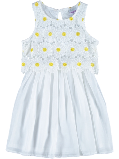 Girls Daisy Crochet Dress