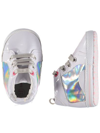 Baby Girl Soft Sole Mirror High Top