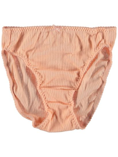 Bikini Rib High Cut Cotton Womens