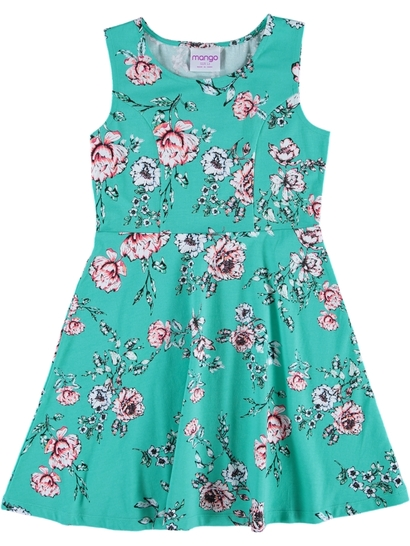 Girls Print Knit Dress