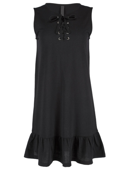Womens Lace Up Tank Dress