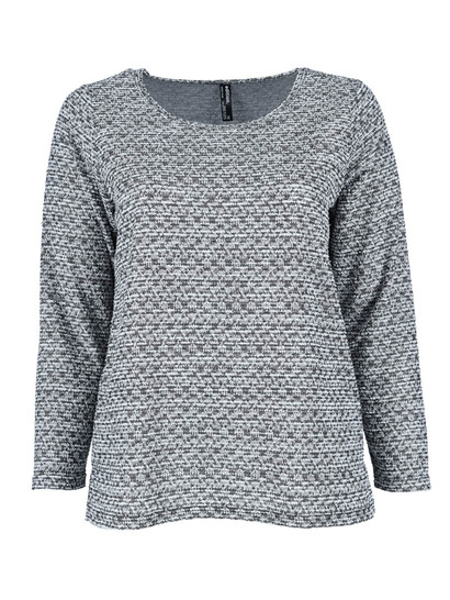 Plus Lurex Mock Knit Pullover Womens
