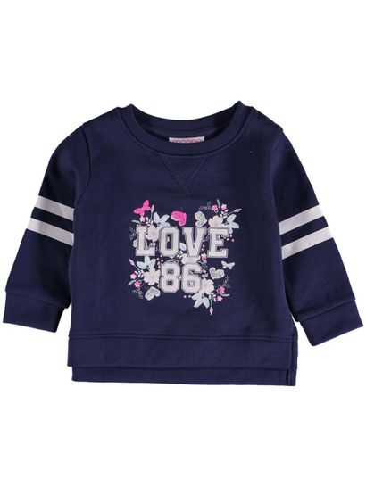 Toddler Girls Printed Sweat Top
