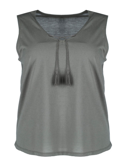 Plus Choker Tank Womens
