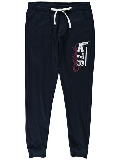 Mens Printed Skinny Fleece Trackpants