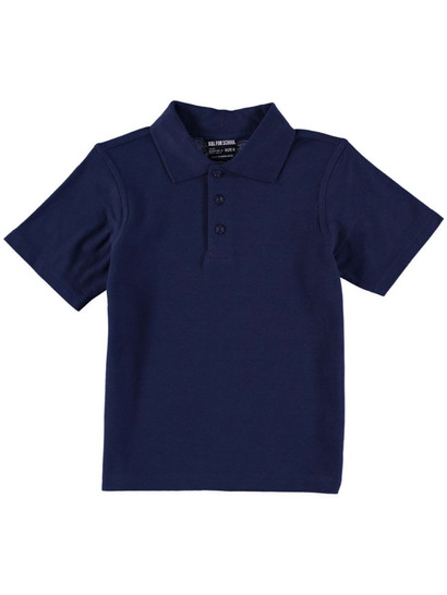 NAVY BLUE KIDS TEFLON PROTECTED COTTON POLO