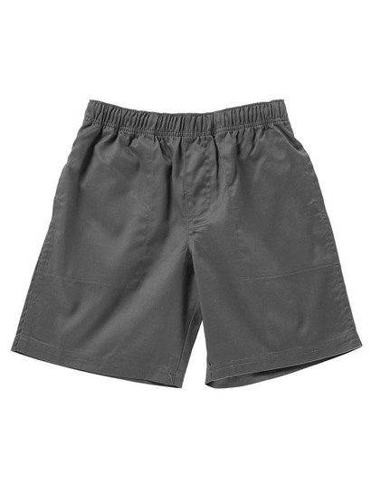 GREY BOYS PLAIN DRILL SHORTS