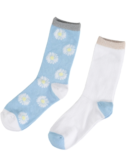 Girls 2 Pack Crew Fashion Sock