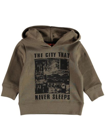 Boys Fleece Hooded Sweat Top