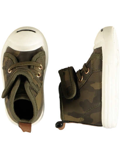 Baby Boy Hard Sole Camo High Top