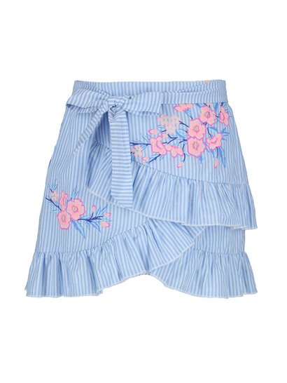 Girls Stripe Floral Skirt