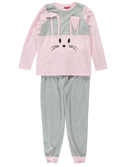 Girls Fleecy Pyjama Set