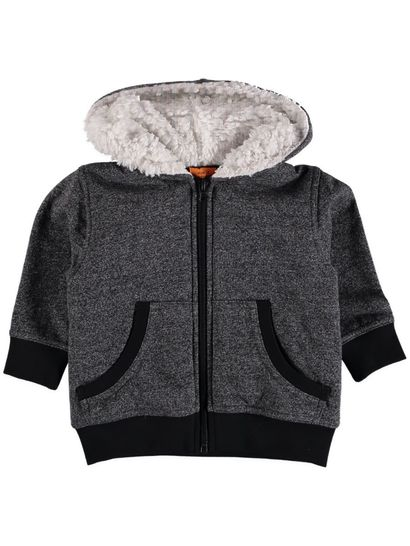 Toddler Boy Sherpa Hood Zip Thru