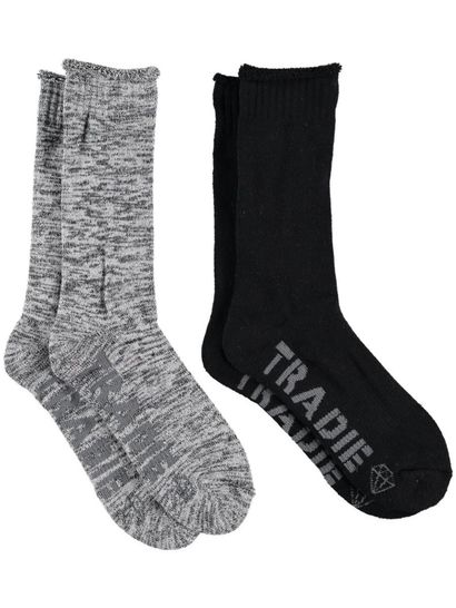 Tradie Lady Sock 2Pk Crew Womens