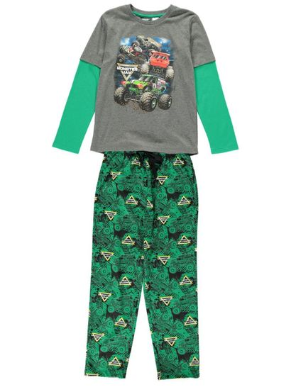 Boys Monster Jam Pyjama Set
