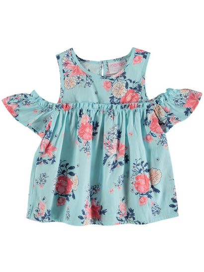 Toddler Girls Cold Shoulder Top