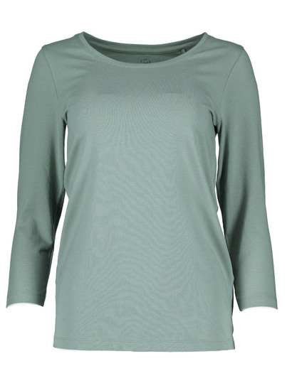 Plus Organic Cotton Blend 3/4 Sleeve Top Womens