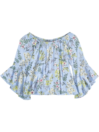 Girl Floral Woven Blouse