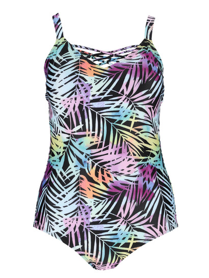 Womens Plus Cross Over One-Piece